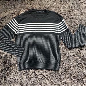 Vince Lightweight striped sweater gray XL cotton